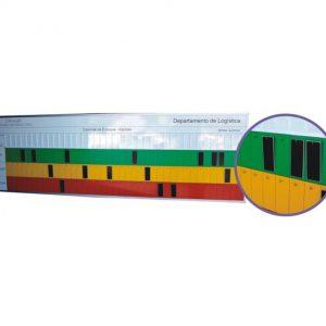 Quadro de gestão visual em kanban para estoque com ganchos - KANB09
